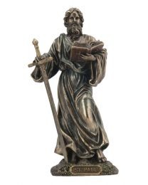 "7.87"" St. Paul - Apostle - Bronze Style Statue"