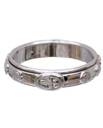 Sterling Silver Spinning Rosary Ring