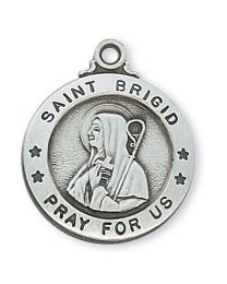 "St. Brigid Sterling Silver Medal on 20"" Chain"