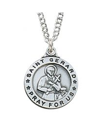 "St. Gerard Sterling Silver Medal on 20"" Chain"