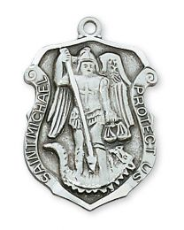 "St. Michael Sterling Silver Medal on 24"" Chain"