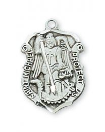 "St. Michael Sterling Silver Medal on 18"" Chain"