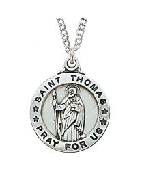 "St. Thomas Sterling Silver Medal on 20"" Chain"