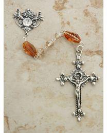 Swarovski Champagne Crystal Rosary
