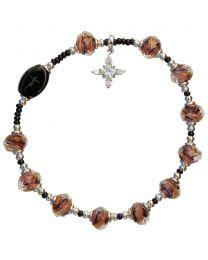 Murano Glass Rosary Bracelet