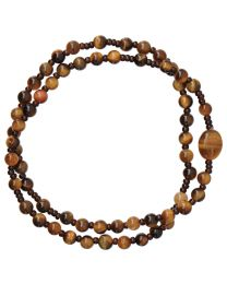 Genuine Tiger Eye Twist Rosary Bracelet
