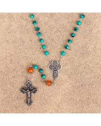 Turquoise & Amber Rosary