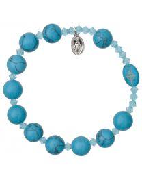 Genuine Turquoise Rosary Bracelet