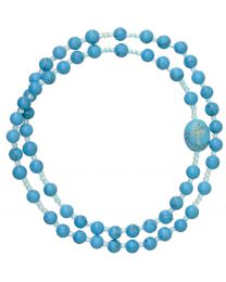 Genuine Turquoise Twist Rosary Bracelet
