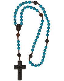 Jujube Wood & Genuine Turquoise Rosary