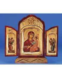 Virgin Mary the Healing Triptych - Gold Leaf Icon