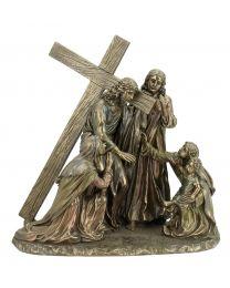 "11.4"" Way of Suffering - Bronze Style Statue"