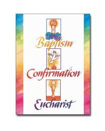 Baptism, Confirmation, Eucharist RCIA Congratulations Card