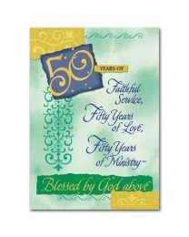 50th Ordination Anniversary Card