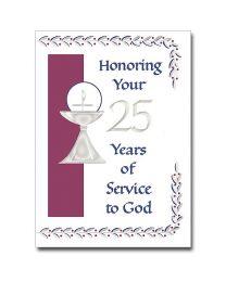 25th Ordination Anniversary Card
