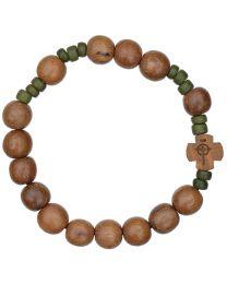 Wood Rosary Bracelet
