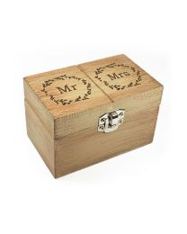 Wooden Mr. & Mrs. Ring Bearer Keepsake Box