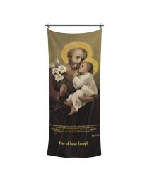 Free Shipping Included! Year of Saint Joseph Tapestry Banner - English